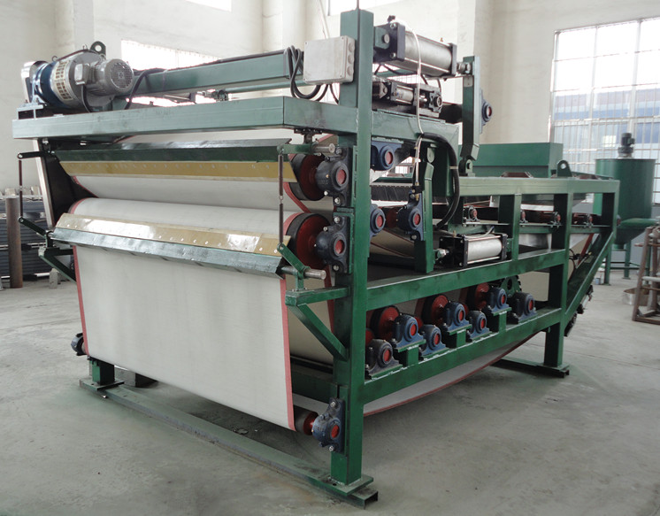 Belt type filter and pressing machine